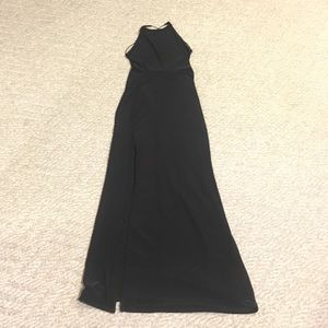 Vintage misguided Bond girl black gown